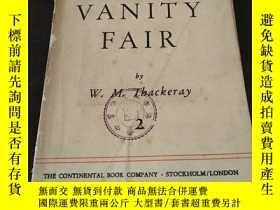 二手書博民逛書店VANITY罕見FAIR Ⅰ Ⅱ(2冊全,1947年印)(名利場