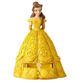《Enesco精品雕塑》迪士尼公主美女與野獸貝兒小飾品抽屜塑像-Belle's Secret Charm_EN95947