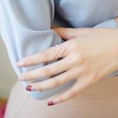 戒指 925純銀 鑲鑽-時尚百搭生日情人節禮物女開口戒2色73dv14[時尚巴黎]