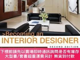 二手書博民逛書店預訂Becoming罕見An Interior Designer: A Guide To Careers In D