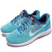 【五折特賣】Nike 慢跑鞋 Wmns Lunarglide 8 藍 白 避震透氣 運動鞋 女鞋【PUMP306】 843726-405