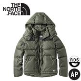 【The North Face 女 700FP防潑水羽絨外套《灰綠》】3VUF/連帽外套/羽絨衣/保暖外套