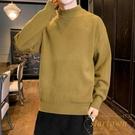 毛衣男士素色半高領寬鬆秋冬保暖內搭冬季線衣打底衫【繁星小鎮】