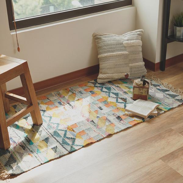 地毯 New Bohemian 印度手工編織多色拼接地毯 印度製 地墊 翔仔居家