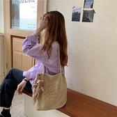 帆布包 可愛帆布包女卡通刺繡單肩包新款日系手提包燈芯絨學生上課包【快速出貨八折特惠】
