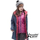 PolarStar 女 二件式防風羽絨外套『黑藍』P18236 戶外 休閒 登山 露營 保暖 禦寒 防風 連帽