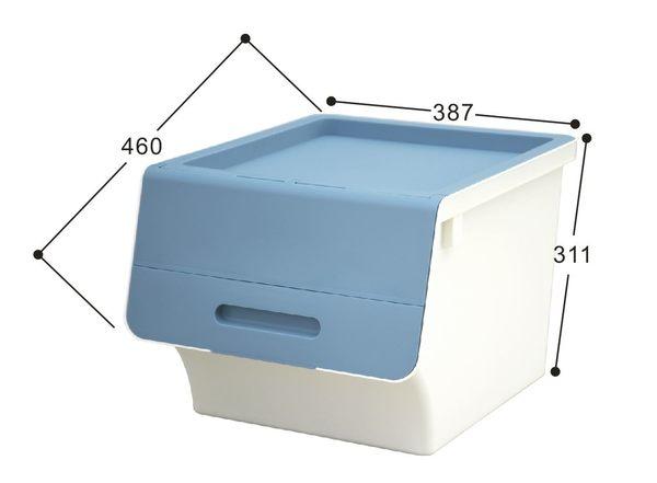 【好市吉居家生活】嚴選聯府KEYWAY~ HB-41 鄉村直取式整理箱(藍) 掀蓋 收納