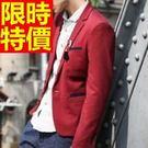 西裝外套精緻簡單-休閒伴郎隨意棉質男西服(單件外套)3色59t9【巴黎精品】