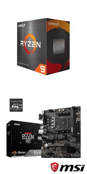 【自組DIY兩件組R59】AMD R9 5900X+微星 B550M PRO