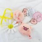 包包掛件 韓風ins可愛卡通豬頭豬屁股胸針網紅創意毛絨公仔包包掛件鑰匙扣 2色