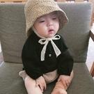 兒童遮陽帽 寶寶兒童漁夫帽嬰兒帽子春秋薄款遮陽防曬太陽草帽女童1一3歲夏女-Ballet朵朵
