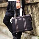【5折超值價】經典流行復古簡約帆布造型休閒商務手提側背包