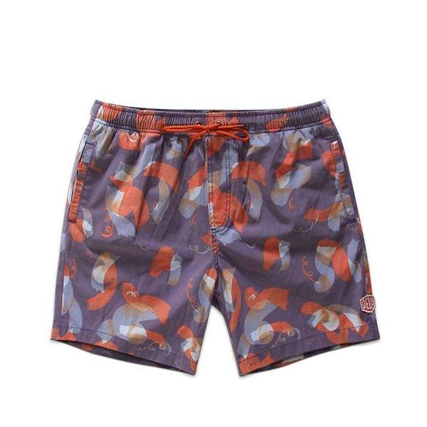 Deus 淺紫創意風海灘褲 Sandbar Shavings Shorts