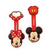 【Disney】 可愛大頭造型五金扣捲線器/集線器-米奇X米妮