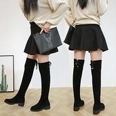 中筒靴 靴子女秋2021新款潮過膝中長款單靴保暖加絨中筒靴冬季中跟襪靴女 寶貝計畫
