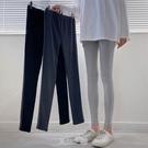 新款秋季韓版修身打底褲女外穿緊身褲高腰小腳九分褲 快速出貨