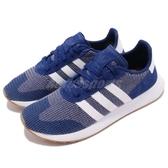 【四折特賣】adidas 休閒慢跑鞋 FLB_Runner W 藍 白 膠底 女鞋 Flashback 運動鞋【PUMP306】 DB2117