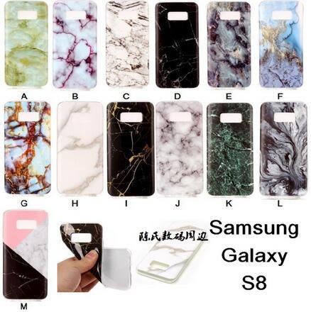 【SZ14】三星s8大理石紋手機殼SamsungS8日韓風手機套矽膠保護殼