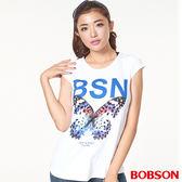 BOBSON女款印圖上衣(26086-80)
