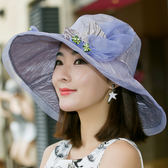 全館85折~帽子女夏天韓版戶外防曬遮陽帽折疊太陽帽~99狂歡購