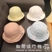 婴儿帽  嬰兒帽子夏季薄款女寶寶遮陽帽春秋盆帽12公主漁夫帽0-6個月1歲3  欧韩流行馆