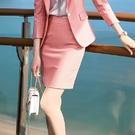 虛線條紋馬卡龍色上班短裙[20X065-PF]美之札