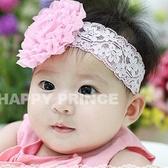 *甜蜜蜜親子童裝*韓單《粉色大花朵》公主款甜美髮帶