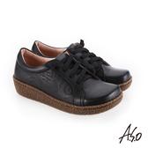 A.S.O 新式復古 舒適柔軟休閒鞋 黑