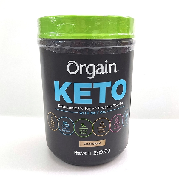[COSCO代購] C1321422 ORGAIN KETO COLLAGEN 膠原蛋白粉 500公克巧克力口味