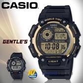 CASIO 卡西歐 手錶專賣店   AE-1400WH-9A 電子男錶 樹脂錶帶 深灰X金色錶面 防水100米 AE-1400WH