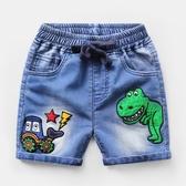 男童恐龍牛仔短褲子夏天五分中褲夏裝小童寶寶休閒 萬客居