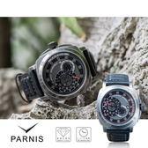 【完全計時】手錶館│PARNIS 重裝系列自動上鍊機械錶 日本MIYOTA機芯 背鏤空 可浮潛游泳【PA3123】
