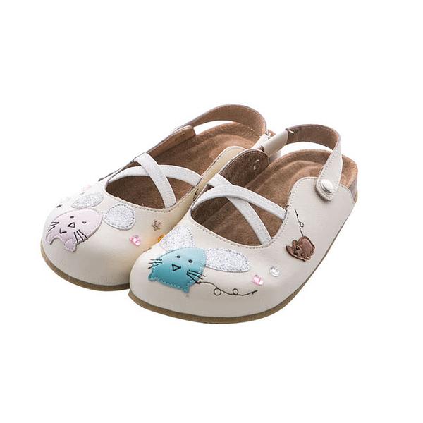 【Jingle】飛天小貓前包後空軟木鞋(經典米大人款)