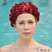女泳帽泳帽高檔護發溫泉泳帽