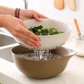 洗菜籃瀝水盆雙層廚房洗菜盆菜籃子客廳家用水果盤瀝水籃     汪喵百貨