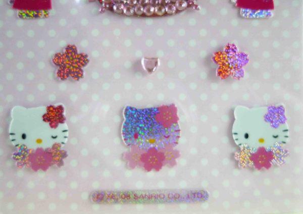 【震撼精品百貨】Hello Kitty 凱蒂貓~KITTY立體鑽貼紙-粉櫻花