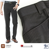 【NST Jeans】男 無打摺羊毛西裝褲 時尚優雅 L口袋 隱性條紋(中腰) 391(6959)