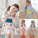 日式和服浴衣洋裝 和風 附腰帶 女童 連身裙 連衣裙 洋裙 戲劇表演 party 造型服 扮裝 Augelute 60364
