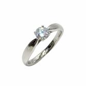 Tiffany & Co 蒂芬妮 0.37克拉鑽石鉑金戒指 9.5號 【二手名牌 BRAND OFF】