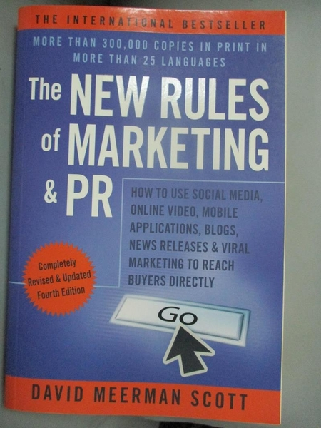 【書寶二手書T1/財經企管_XEI】The New Rules…-How to Use Social Media..._Scott