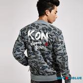 【5折限定】日本藍滿版迷彩棒球外套(灰) - BLUE WAY 日本藍