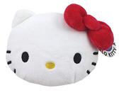 【卡漫城】 Hello Kitty 票卡 零錢包 大臉 絨毛 ㊣版 收納包 小物 悠遊卡 卡套 拉鍊式 證件包 凱蒂貓