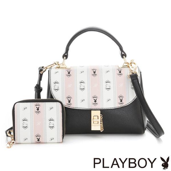 PLAYBOY- 2WAY小手提包 Sweet Girl 甜蜜粉躍兔系列-甜粉色
