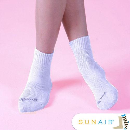 sunair 滅菌除臭襪子- 標準型運動襪短筒M(21~24.5) (白)/SA1804