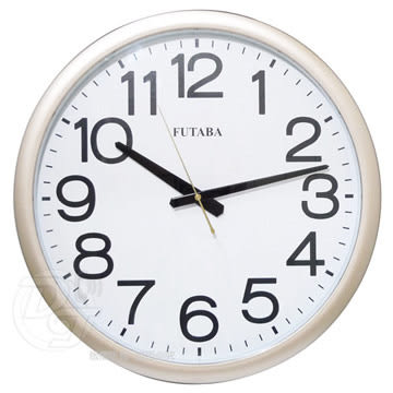 《一打就通》FUTABA高級辦公室超靜音大掛鐘 395 (金) ∥台灣製造∥做工精細∥