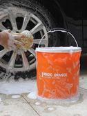 汽車用摺疊水桶洗車桶便攜式專用可伸縮多功能車載收縮釣魚桶車用萬聖節