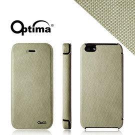 【漢博商城】Optima iPhone 5/5S 義大利針織系列側掀保護套 - 亞麻