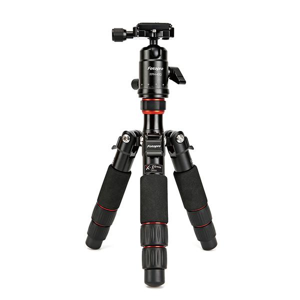 富圖寶 Fotopro X-GO Mini 碳纖專業迷你三腳架 (湧蓮公司貨) 8層碳纖腳管 可超低腳度拍攝