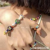 小众设计师同款琉璃彩色花朵淡水珍珠串珠手工手链女 居家物語