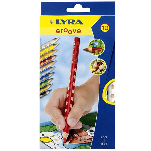 《德國LYRA》Groove三角洞洞色鉛筆(10色)╭★ JOYBUS玩具百貨